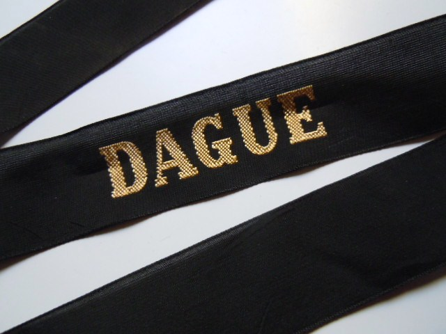 DAGUE Patrouilleur 1945 RUBAN LEGENDE CAP TALLY ORIGINAL